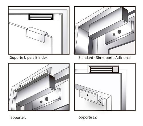 herraje z 180kg soporte cerradura magnetica puerta electrica