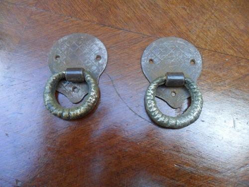 herrajes antiguos en bronce, para cajones-puertas
