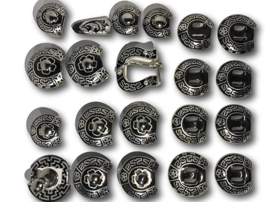 Herrajes para montura charra acero inoxidable con aluminio 2 en mercado libre - Herrajes de acero inoxidable ...