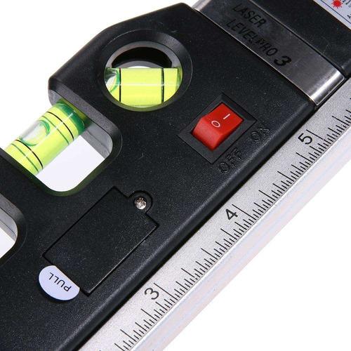 herramienta 3 en1 nivel huincha laser multiuso construccion