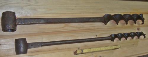 herramienta de carpintero  barrenas o brocas  de hierro