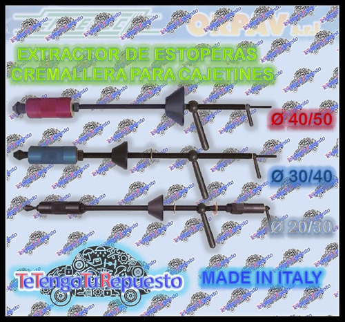 herramienta extractor estopera cremallera 20/30-30/40-50