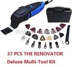 herramienta multifuncion renovator potente oscilante 37 pzas