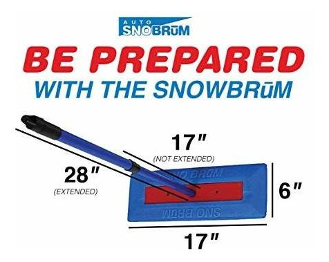 "Safe Winter Snow Removal for Your Vehicle Without Paint Scratching SNOBRUM 28/"" Extendable Handle The Original Snow Broom and Snow Remover for Cars and Trucks Push-Broom Design"