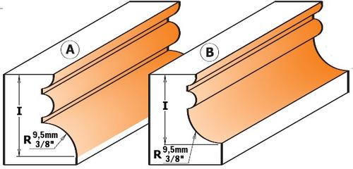 herramienta para carpintería fresa para hacer molduras cmt