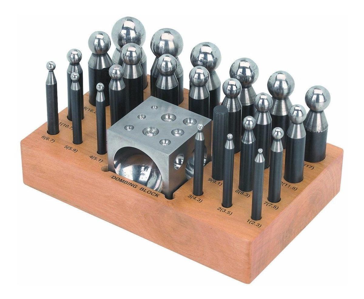 36df7204c3f3 Herramienta Para Joyeria Con 24 Punzones Y Doming Block