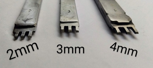 herramienta tenedor marcador puntadas cuero 2 mm 2 dientes