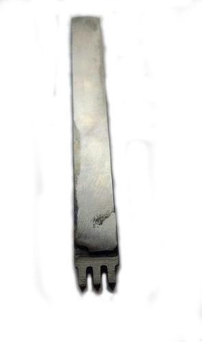 herramienta tenedor marcador puntadas cuero 3 mm 5 dientes