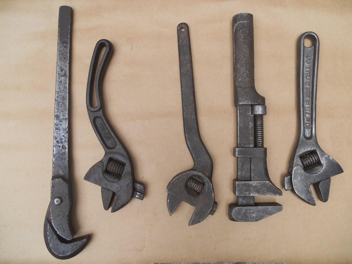 Herramientas antiguas colecci n de llaves ajustables - Herramientas de campo antiguas ...