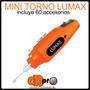 Mini Torno Lumax 12v 12000rpm 60 Accesorios Manicura