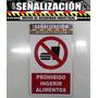 Aviso Prohibido Estacionar - Fumar - Tocar Corneta Crvd