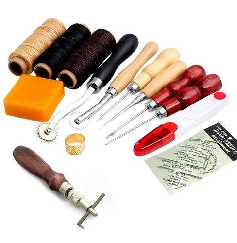 herramientas para cuero set de costura 14 piezas