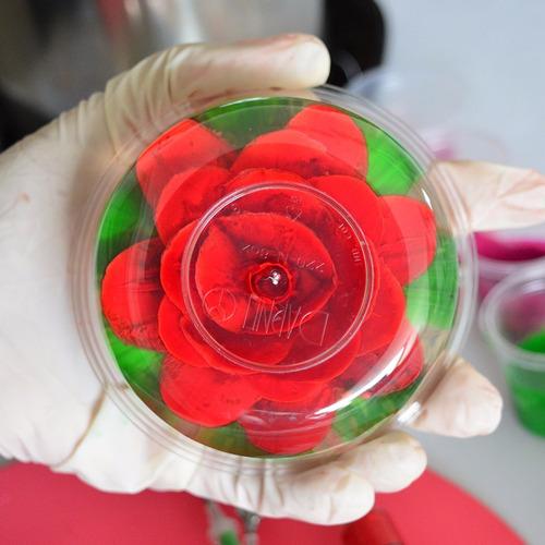 herramientas para gelatinas florales en 3d gubias kit n°4