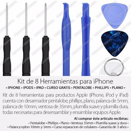 herramientas reparación iphone 5 6 7 desarmador envío gratis