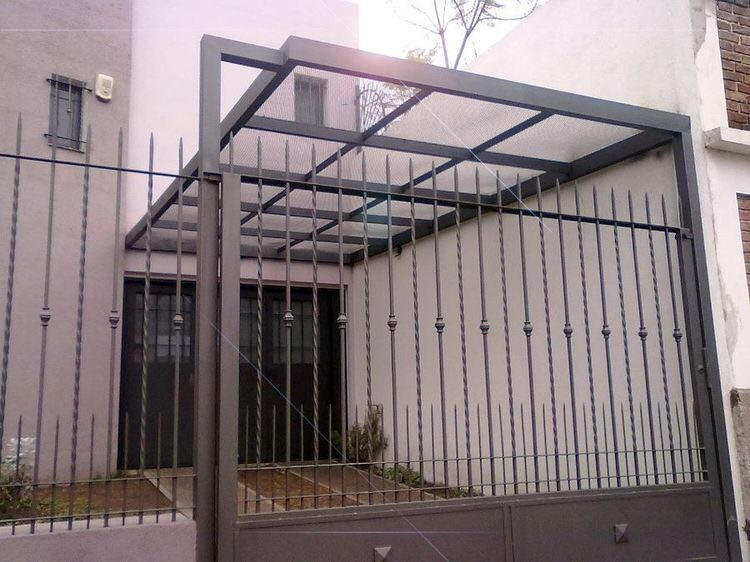 Herreria rejas portones p rgolas tinglados techos for Baldosones para patio