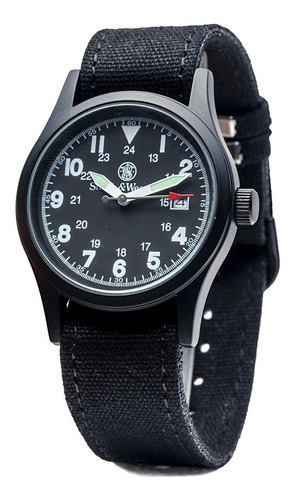 herrero & wesson militar reloj blck 3 set w / quartz movemen