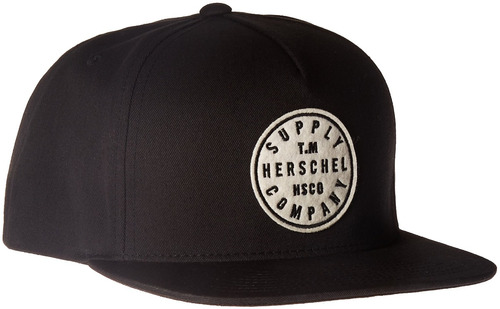 herschel supply co. tm de algodón para hombre, negro, talla