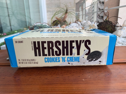 hershey`s cookies n creme 43gr -2 vdes-