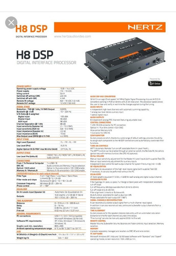 hertz h 8 processador digital