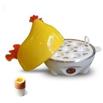 hervidor, cocedor eléctrico de huevos en  forma de gallina