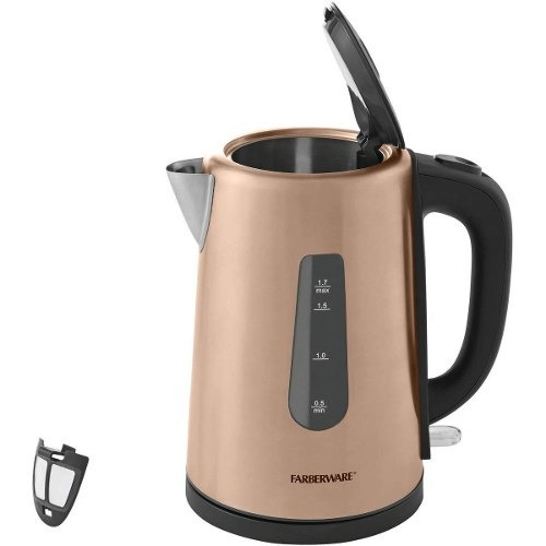 hervidor de agua eléctrico farberware 1.7 litros acero