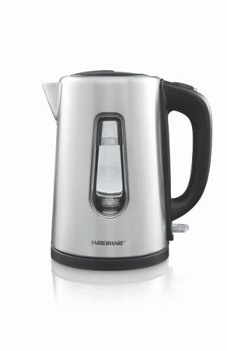 hervidor de agua eléctrico farberware 1.7 litros acero plata