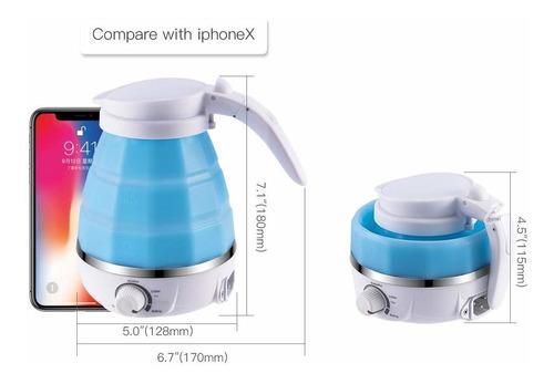 hervidor de agua eléctrico plegable de viaje, protección