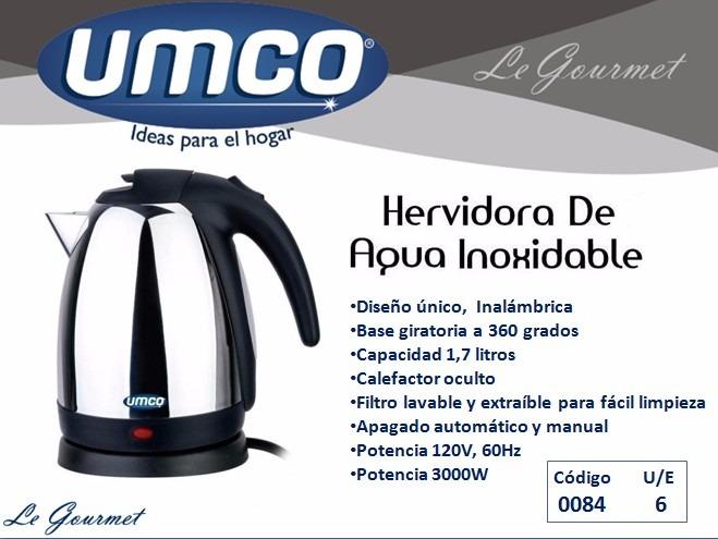 Hervidor de agua electrico umco 1 7 litros aceroinoxidable - Hervidor de agua electrico ...