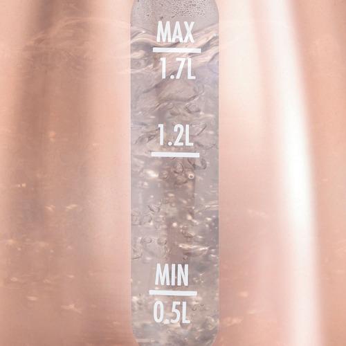 hervidor de agua hamilton beach vidrio acero de 1.7 litros