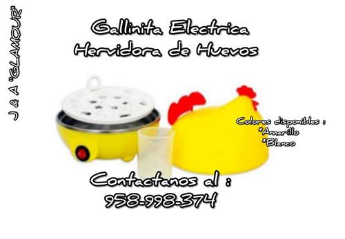 hervidor de huevos electrico en forma de gallinita