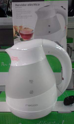 hervidor electrico  1.2 litros blanco recco