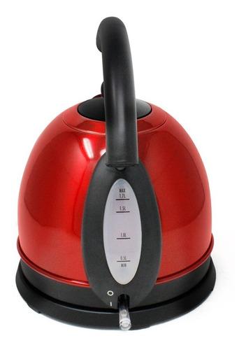 hervidor eléctrico acero inox rojo hamilton beach 40894