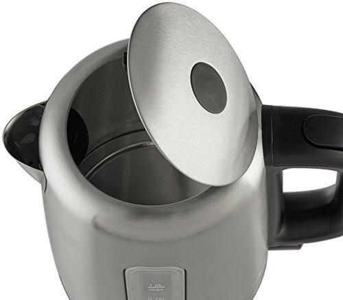 hervidor eléctrico de acero inoxidable amazonbasics - 1