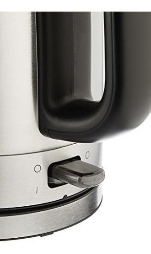 hervidor electrico de acero inoxidable amazonbasics - 1 litr