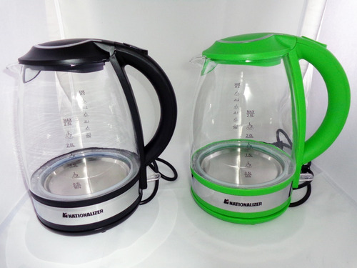 hervidor eléctrico vidrio nationalizer 2.5 litros 2200watts