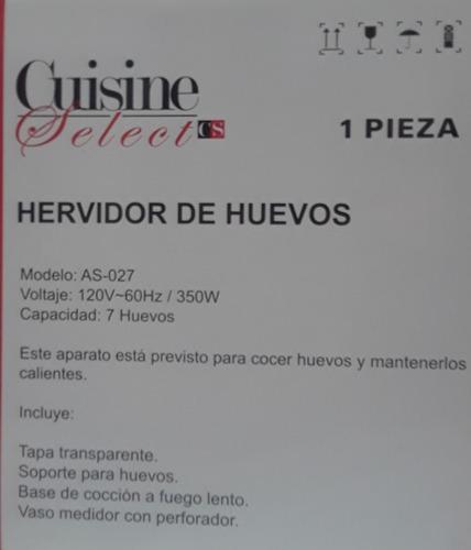 hervidor para huevos cuisine select
