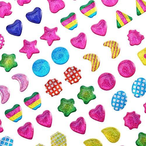 hestya 840 pares adhesivos pendientes 3d gems adhesivos niñ