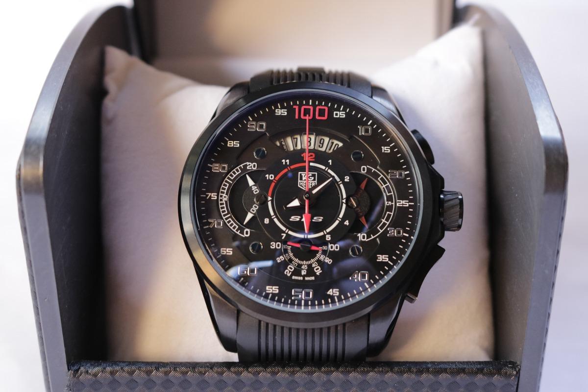 6ace9ee9227 Relógio Tag Heuer Mercedes Benz Sls Masculino Black - R  505