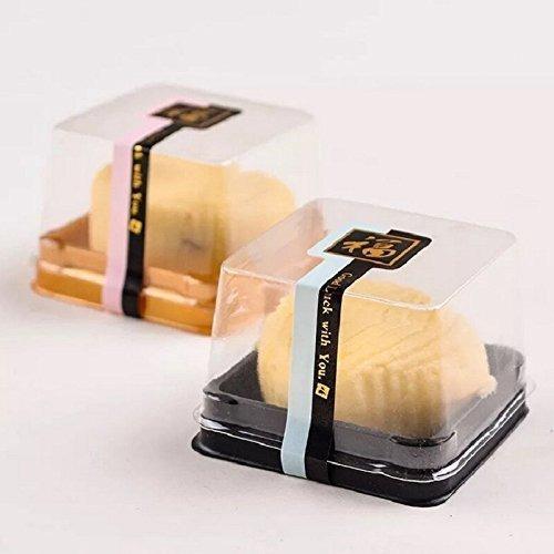 hewnda 50 unidades 22 de plastico transparente mini caja de