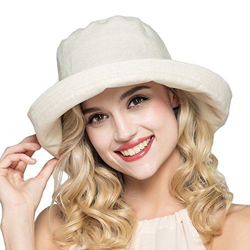 Hh Hofnen Verano Algodón Y Lino Plegable Cubeta Sombreros De ... 79956064fd55