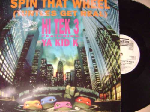 hi tek 3 - ya kid- spin that wheel - technotronic-acetato-dj