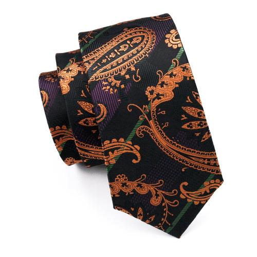 hi-tie moda paisley corbata set seda tejida