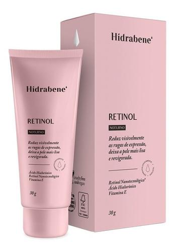 hidrabene retinol 30 g redutor de rugas de expressão