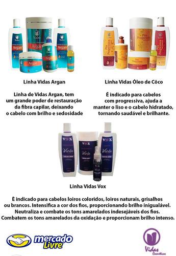 hidratação óleo de côco pós progressiva 1kg-vidas cosméticos
