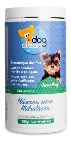 hidratação para cães e gatos queratina dog clean 980g