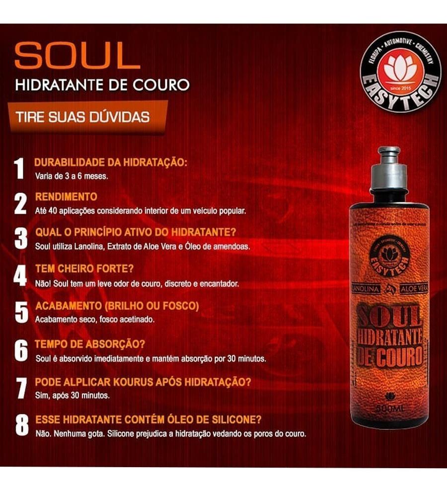 Hidratante De Couro Easytech Soul 500ml - R$ 41,90 em Mercado Livre