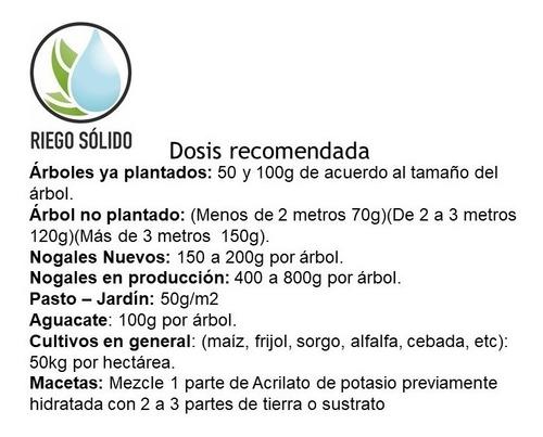 hidrogel agricola agua solida 25kg envio gratis