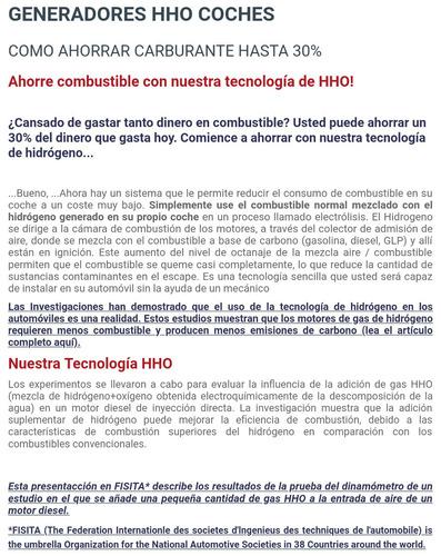 hidrogeno automotriz hho