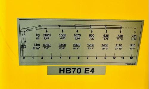 hidrogrua hyva hbr70 7 tnm peso eq: 820 kg precio anticipo!!