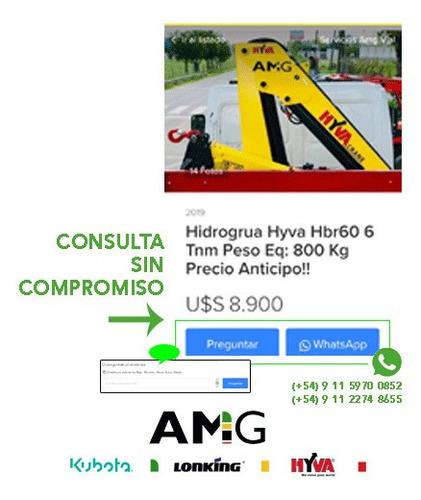 hidrogrua hyva hv77 7.6 tnm peso eq: 890 kg precio anticipo!